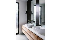 Propuestas para un baño compartido Se puede jugar con todos los elementos para lograr espacios armónicos y que inviten al relax de a dos Foto: Bloglovin.com