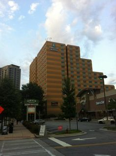 Embassy Suites Buckhead - Atlanta - We stay here every time we visit Atlanta. Valet always remembers us, and greets us like family. I wouldn't trade them for anything! Visit Atlanta, Embassy Suites, Georgia On My Mind, Hani, Train Station, The Incredibles, Living Room, Places, Travel