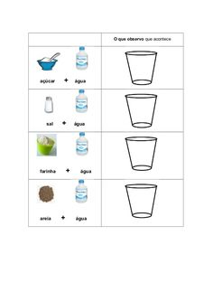 Experiência com água - Dissolve (registo) Diy And Crafts, Preschool, Science, Teaching, Math, Fun, Kid Science Activities, Science Projects For Kids, Water Science Experiments