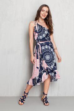Vestido multi babados estampado cannes | Dress to