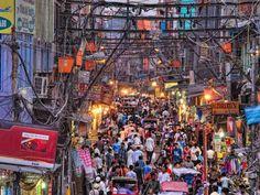 Chandni Chowk, a Bazaar, in Delhi India