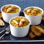 Baked Polenta with Garlic and Parmesan Crostini