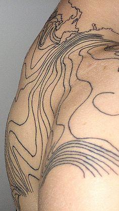 Topography Tattoo - Sooo interesting!