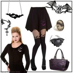 If you're mad abot bats here's lovely collection of batty items! Pin Up Outfits, Sexy Corset, Gothic Outfits, Steampunk Fashion, Skater Skirt, Street Wear, Ballet Skirt, My Style, Skirts