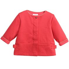 Baby Girls Coral Pink Lightweight Jacket , Chloé, Girl