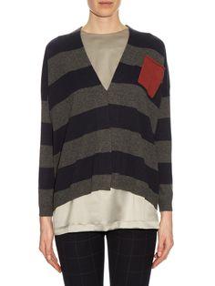 Patch-pocket striped cashmere cardigan   Brunello Cucinelli   MATCHESFASHION.COM UK