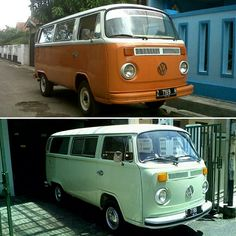 Greeny.. Kombi'77 before and after restored by @kombiku68 (IG) #volkswagen #vwbus #microbus #aircooled #kombi77 #kombi #latebays #vwrestoration