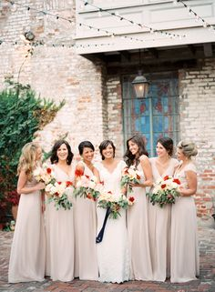 "Photography: Nicole Berrett  Joanna August Bridesmaids Dresses in ""All Tomorrow's Parties"""