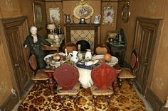 A close-up of the dining room from Amy Miles' House, shown in full above. From the Victoria and Albert Museum collections.