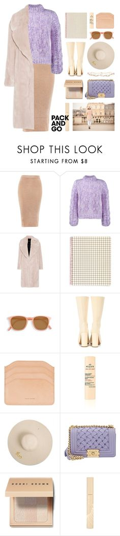 """ticket to paris"" by foundlostme ❤ liked on Polyvore featuring Topshop, Ganni, Cédric Charlier, ban.do, adidas Originals, Chanel, Bobbi Brown Cosmetics, Stila, Diane Kordas and parisfashionweek"
