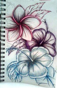 Love this one hawaiian flowers, hawaiian flower tattoos, hawaiian art, tatoos, fake Pretty Tattoos, Love Tattoos, Beautiful Tattoos, Black Tattoos, Body Art Tattoos, Tatoos, Tiger Lily Tattoos, Tattoo Fleur, Hawaiianisches Tattoo