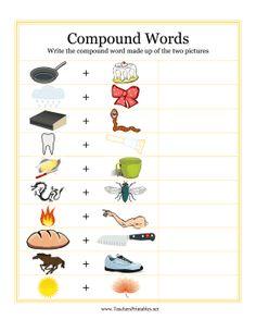 esl kids worksheets compound words pre k phonological awareness pinterest compound words. Black Bedroom Furniture Sets. Home Design Ideas