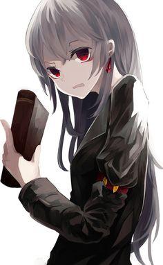Gray haired hentai girls
