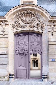 Paris Photography - Mauve Door, Architectural Photography, Travel, French Home…