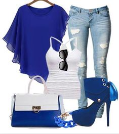 Wanna try the Casual Blue Outfit?? #blouse #casual outfit