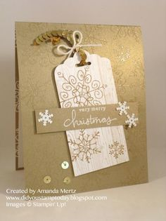 Fab Gold Snowflakes by mandypandy - Cards and Paper Crafts at Splitcoaststampers