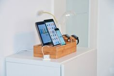 One dock to charge them all.... and in the darkness bind them! #homedecor #technology