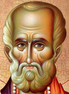 Byzantine Icons, Byzantine Art, Religious Icons, Religious Art, Russian Icons, Religious Paintings, Painting Studio, Saint Nicholas, High Art