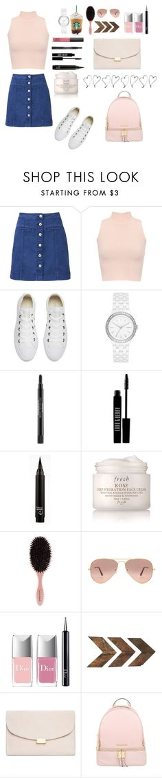 """""""Back to School"""" by peaceloveyay ❤ liked on Polyvore featuring Witchery, WearAll, Converse, DKNY, Lord & Berry, Fresh, Ray-Ban, Christian Dior, Mansur Gavriel and Michael Kors"""
