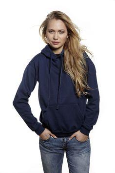 Womens Hoodie Eco Active| Navy Fairtrade Cotton | European Design