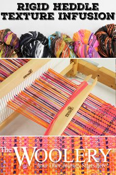 Mix up your rigid heddle weaving project with texture! Our project idea uses Sinfonia Cotton and Feza Alp Premier Yarn on a Kromski Harp Forte Loom Weaving Textiles, Weaving Patterns, Tapestry Weaving, Weaving Loom Diy, Weaving Projects, Weaving Techniques, Yarn Crafts, Diy Crafts, Loom Knitting