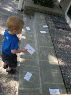 Toddler Approved!: Number WalkMake a large grid (one square for each number). Students can walk and count (one to one correpondence). Identify numbers receptively stepping on numbers as they are named. Match number flashcards or sets of objects to the matching number.