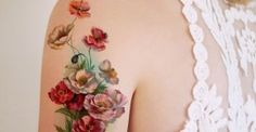 Realistic Flowers Arm Tattoo