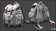 Kakadu Backpack - Highpoly Sheet 01 by JeremiahBigley on deviantART