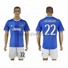 Billiga Fotbollströjor Juventus 2016-17 Asamoah 22 Kortärmad Borta Matchtröja