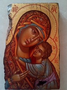 Virgin Mary and Christ, Orthodox icon, gold, hand painted Sculpt Studio, History Of Ethiopia, Byzantine Icons, Heart Images, Unique Birthday Gifts, Catholic Art, Orthodox Icons, Paint Shop, Christen