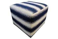 One Kings Lane - Architectural Details - Harold Ottoman, Navy