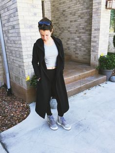 Instagram: alexaneri__  Sunglasses: Boohoo Cape: Forever 21 Crop Top: Forever 21 Leggings: Simply Vera by Vera Wang Shoes: Yeezy Boost by Kanye West