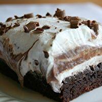 Brownie Refrigerator Cake by Kathy