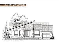 """Architecture St-Martin » 14-2651 Dimensions: 58'-6""""x34'-6"""" Superficie Rez-de-chaussée: 1596 pi.ca. Superficie Garage: 326 pi.ca. 2 chambres Prix: 750$  La commande de ce plan comprend: Plan des fondations Plan du rez-de-chaussée 4 élévations complètes Une coupe de mur et détails 3 jeux de plans à l'échelle"""