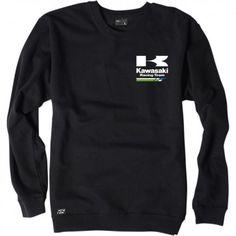 Factory Effex Official Kawasaki Racing Crewneck Long Sleeve Mens Sweatshits