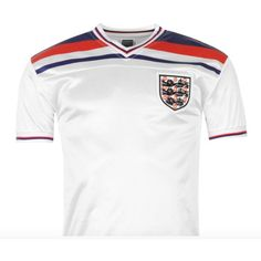 England soccer jersey 1982 home jersey available at www.premiersportsproducts.com