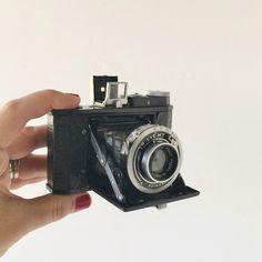 Rare Minion Black Body Folding Camera Unusual 4 x 5 Format Tokyo Kogaku 6cm 1:3.5 Lens Ca. Early 1940s Rare Vintage Collectible Camera (399.00 USD) by AlegriaCollection