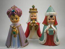 Vintage Josef Originals Wise Men set Figurines Christmas nativity 1960s sample