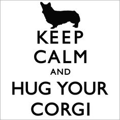 Keep Calm And Hug Your Corgi Ladies T-shirt. $24.00, via Etsy.