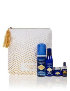 The Immortelle flower, exclusively grown and harvested in Corsica, has long been famed for its unique, anti-ageing properties that have placed it at the heart of L'OCCITANE'S award-winning Immortelle skincare range. With this luxurious Immortelle Precious Skincare Set, you can diminish the appearance of wrinkles and maintain skin's quality and smoothness with the help of these skincare essentials.