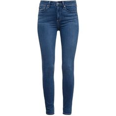 Paige Tristan Ultra Skinny Jeans ($294) ❤ liked on Polyvore featuring jeans, pants, bottoms, housut, leggings, blue, super stretchy skinny jeans, super skinny jeans, faded blue jeans and skinny jeans