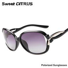 6538e5afcb2e8 FuzWeb Sweet CITRUS Polarized Sunglasses Women Luxury designer Butterfly  polarisantes lunette lunette de soleil femme