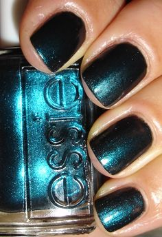 """Essie Color…""""dive bar."""" Kind of a blackened teal that is SASSY indeed:)"""