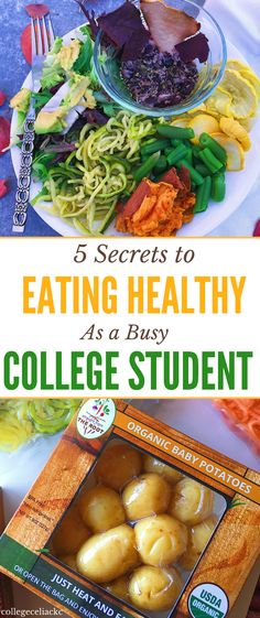 Not sure how to eat healthy in college? This gluten free college celiac is sharing her top 5 secrets to eating healthy as a busy college student. Whether you're in college, grad school or a busy full-time worker, these healthy eating tricks and tips will help you eat healthy with limited time and energy.