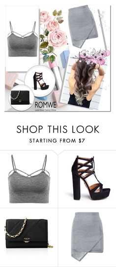 """""""Romwe"""" by merymutapcic ❤ liked on Polyvore featuring Aquazzura, Michael Kors, Sephora Collection and Karlsson"""