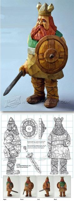 Viking - Carving Caricature - Wood Carving Patterns and Techniques | WoodArchivist.com