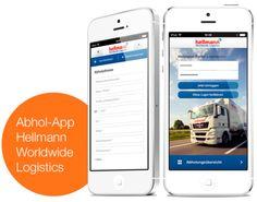 Neue Wege in der mobilen Kundenkommunikation mit der Abhol-App. Die für Hellmann Worldwide Logistics realisierte App ist für Windows Phone 8, Android und iOS verfügbar.