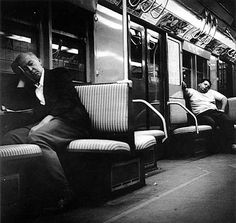 Arthur Leipzig - Subway Sleepers - 1950