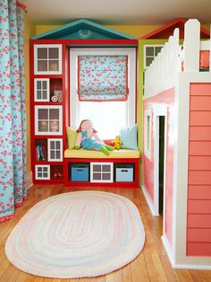 Creative, built-in furniture turns this kid's room into a life-size playhouse, plus a storage haven for Mom.