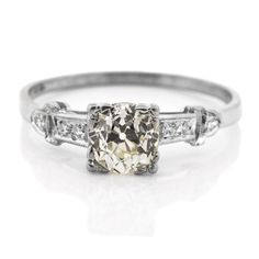 Gorgeously Brilliant Vintage Old Cut Diamond Platinum Ring. See Her Smile With Love! A unique platinum ring featuring a 0.85 [...]
